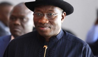 File picture of Jonathan arriving for a meeting in Addis Ababa
