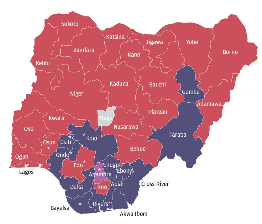 Why The PDP Lost New African Magazine - Political party map us red blue purple