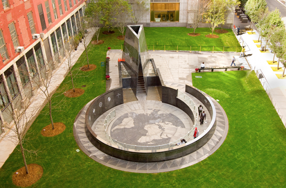 The African Burial Ground Monument in New York