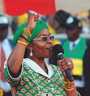 Zimbabwe's First Lady, Grace Mugabe