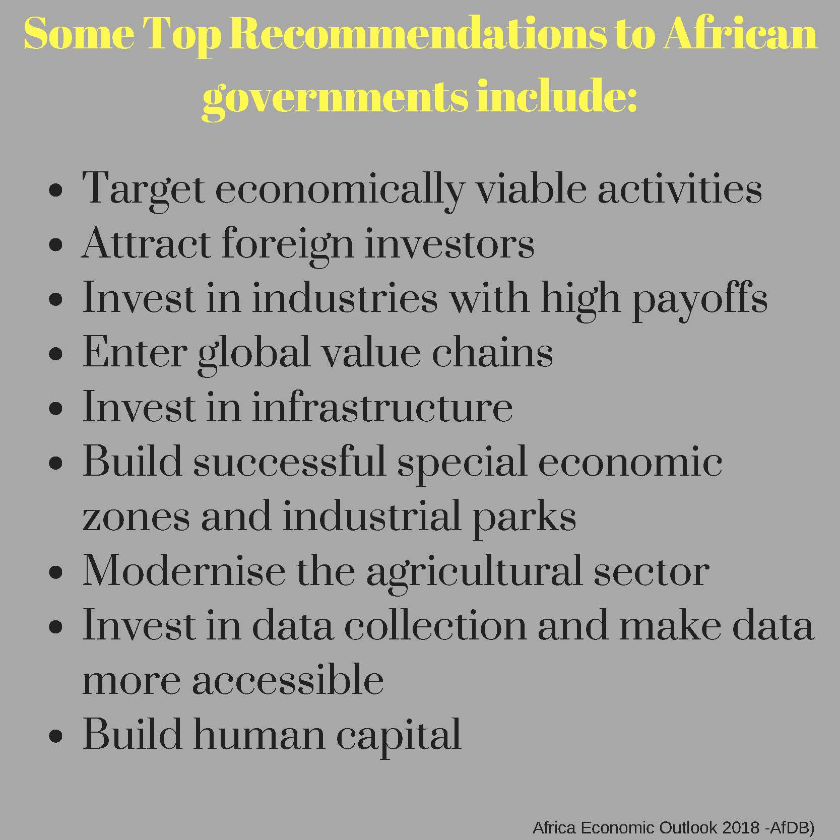 The state of African economies: According to AfDB's African Economic