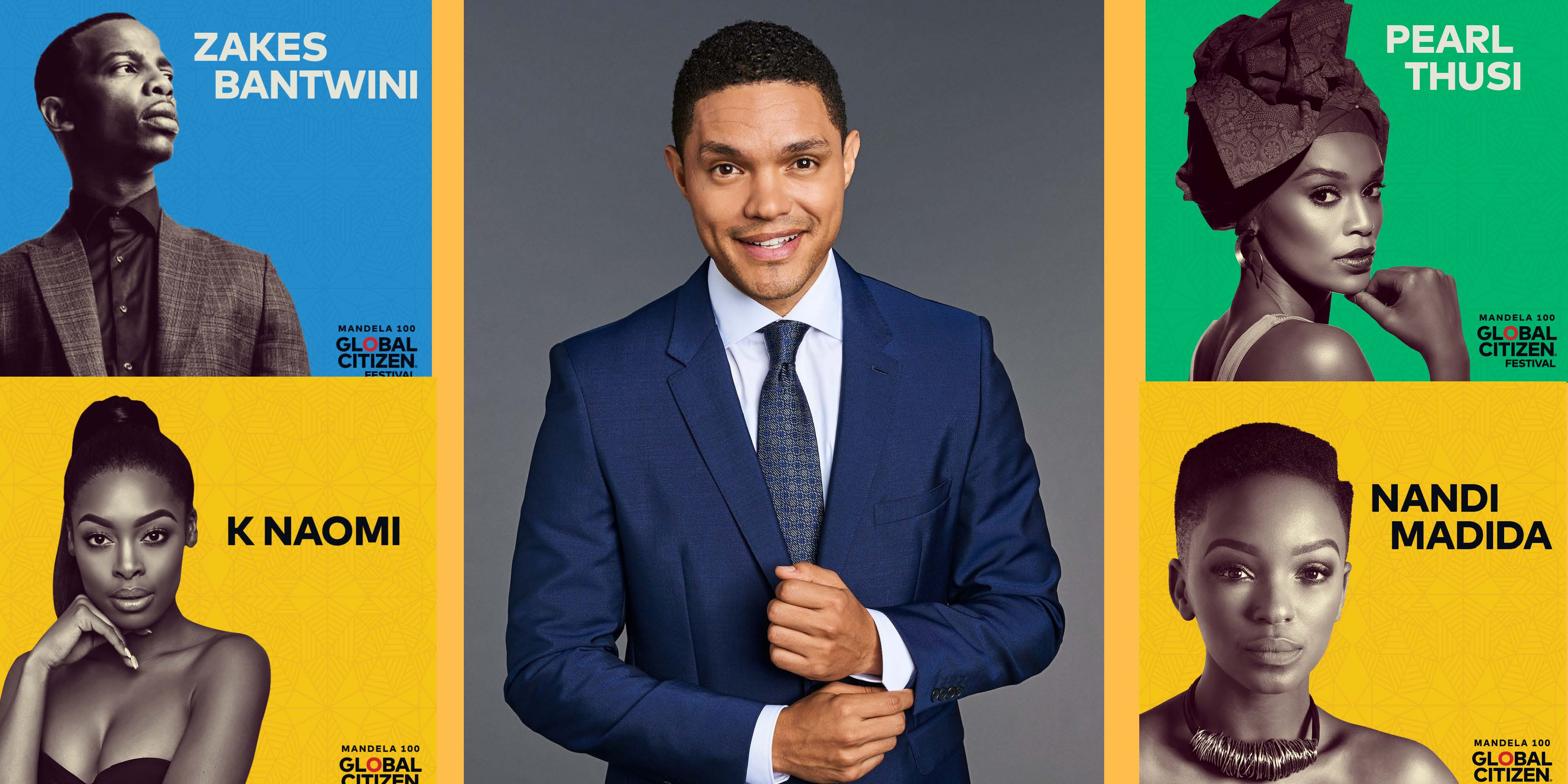 GLOBAL CITIZEN FESTIVAL: Trevor Noah to host as more faces join charity event