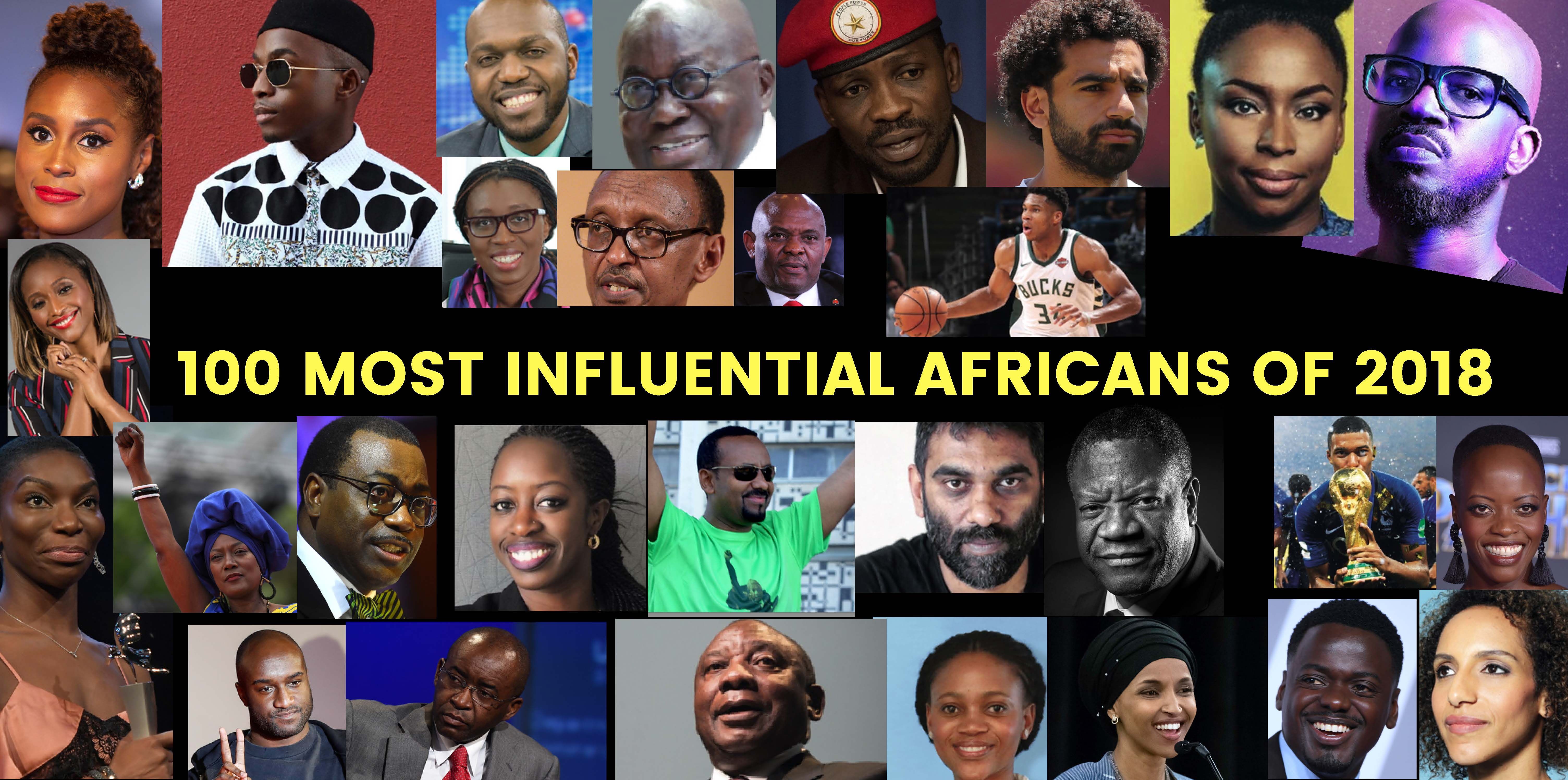 Full list – Most Influential Africans of 2018
