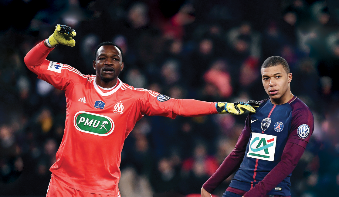 Mandanda and Mbappé in action