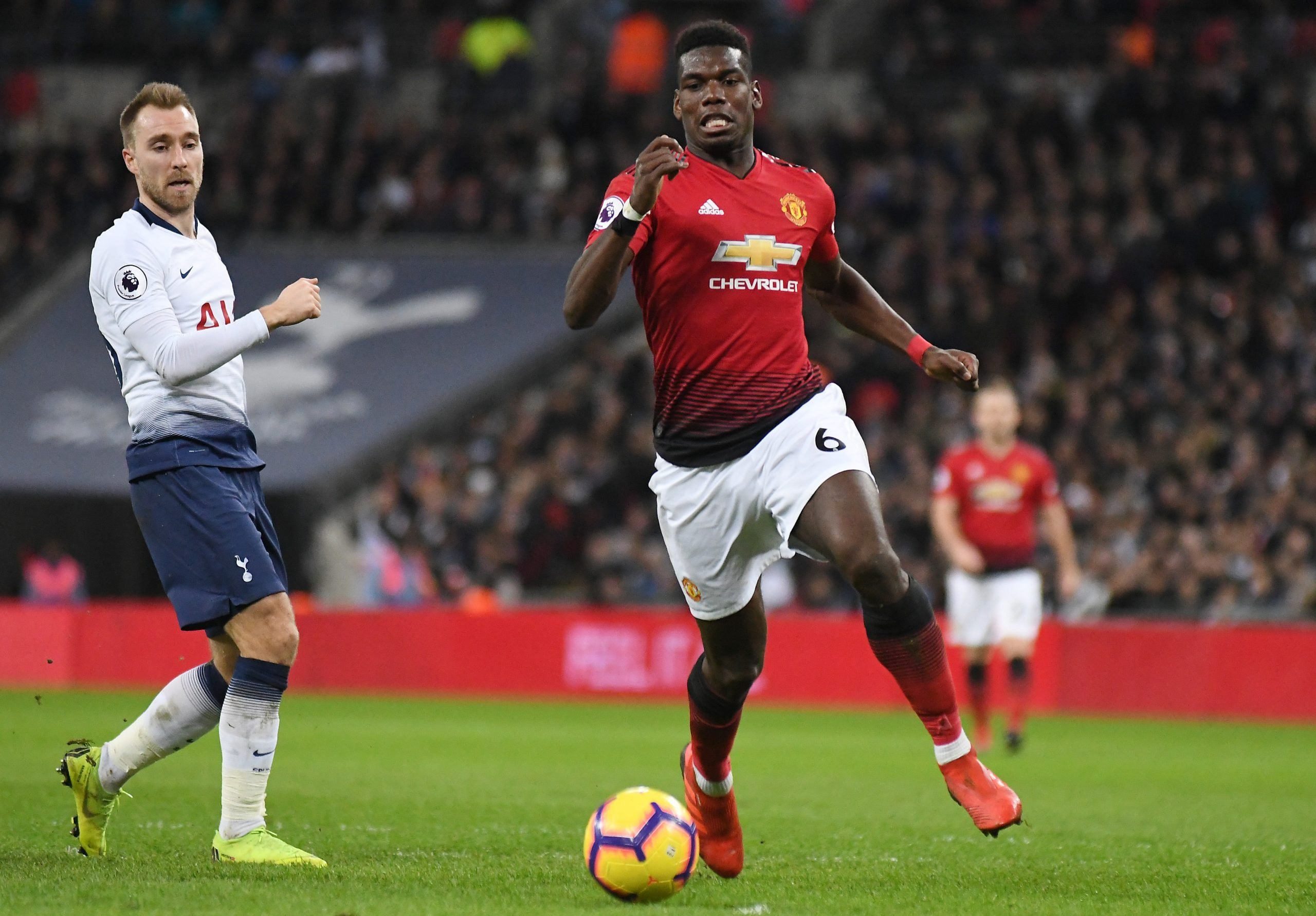 Paul Pogba in action on the football field